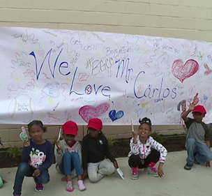 Cleveland students make `get well banner` for Indians pitcher Carlos Carrasco