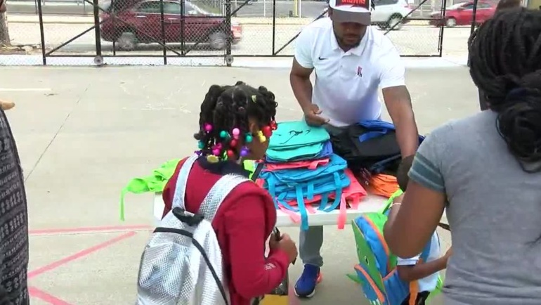 TeamCribbs Foundation donates backpacks, supplies to Stepstone students